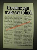 1987 Partnership for a Drug-Free America Ad - Cocaine Can Make You Blind