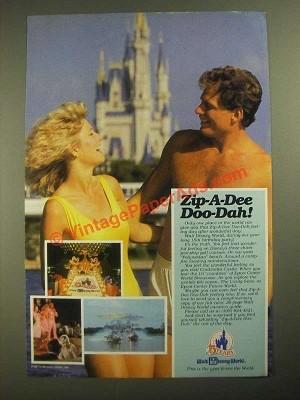 1987 Walt Disney World Ad - Zip-A-Dee Doo-Dah