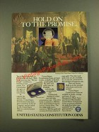 1987 United States Mint Constitution Coins Ad - Hold on To the Promise