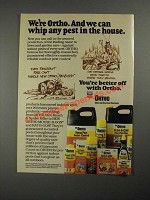 1987 Ortho Indoor Pest Products Ad - We Can Whip Any Pest