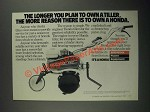 1987 Honda F501 Tiller Ad - The Longer You Plan to Own