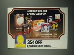 1987 Sylvania Light Bulbs Ad - A Bright Idea for Spring Clean-Up