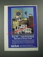 1987 Fairfield Poly-Fil Ad - Adds Something Special to Every Craft
