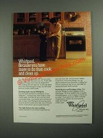 1987 Whirlpool Ranges and Ovens Ad - More to Do Than Cook and Clean Up