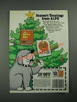 1987 Alpo Bite Treats and Jerky Bits Ad - Season's Treatings