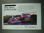 1987 Marriott's Castle Harbour Resort Ad
