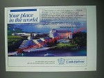 1987 Marriott's Castle Harbour Resort Ad - Your Place in the World