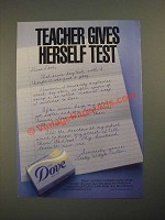 1987 Dove Soap Ad - Teacher Gives Herself Test
