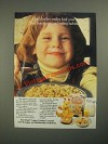 1987 Post Crispy Critters Cereal Ad - Don't Let The Smiles Fool You