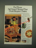 1987 Hormel Chunk Chicken Ad - Dinners That Don't Require Chairs