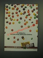 1987 M&M's Candies Ad - I'm Wishing For a Red, Brown, Orange Christmas