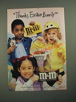1987 M&M's Candies Ad - Thanks Easter Bunny