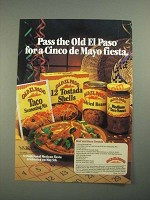 1987 Old El Paso products Ad - Beef and Bean Tostada recipe