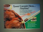 1987 Tyson Cornish Hens Ad - Anytime