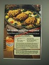 1987 Durkee French Fried Onions Ad - Mini Meat Loaves 'n Vegetables recipe
