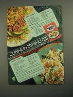 1987 Minute Rice Ad - Taco Delight and Chicken Divan Recipes