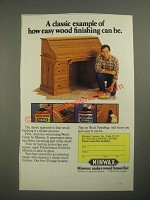 1987 Minwax Wood Finish and Polyurethane Ad - A Classic Example