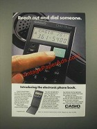 1987 Casio Quick Dialer Ad - Reach Out and Dial Someone