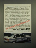 1988 Renault Medallion Ad - It Has More
