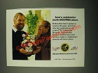 1987 FTD Celebrate Bouquet Ad - Send a Celebration Worth Shouting About