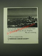 1987 American Cancer Society Ad - More People Have Survived