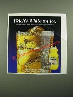 1987 Welch's 100% White Grape Juice Ad - White on Ice