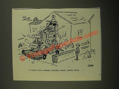 1987 Cartoon by Gallagher - It Mows, Trims, Sweeps, Spreads, Seeds, Weeds