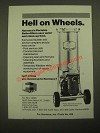 1987 Harmsco Portable Betterfilters Ad - Hell on Wheels