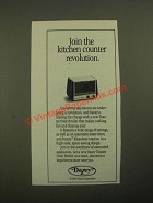1987 Dazey Toaster Oven Broiler Ad - Join the Kitchen Counter Revolution