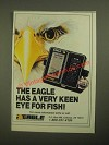1987 Eagle Z-5000 Fish Finder Ad - Has a Very Keen Eye for Fish