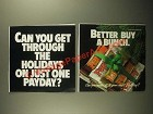 1987 PayDay Candy Bars Ad - Get Through the Holidays