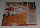 1987 Duncan Hines Cake Mix Ad - Elegant Strawberry Apricot Cake Recipe