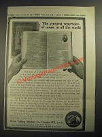 1913 Victor Records Ad - The Greatest Repertoire of Music