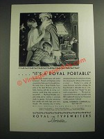 1929 Royal Portable Typewriter Ad - It's a Royal Portable!