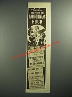 1937 California's Hour Radio Program Ad - Another Big Night