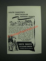 1942 South Dakota State Highway Commission Ad - Summer Events