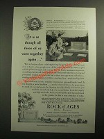 1953 Rock of Ages Barre Granite Family Monuments Ad - It Was As Though