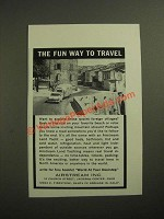 1961 Airstream Land Yacht Ad - The Fun Way to Travel