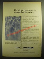 1965 Los Alamos Scientific Laboratory Ad - Safeguarding the Nation