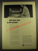 1965 GAF Ozalid 5017 Automatic Roll Feed Diazo Copier Ad - Roll Your Own