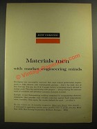 1965 Dow Corning Ad - Materials Men