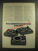 1970 Dual Turntables Ad - 1215, 1209, 1219