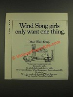 1971 Prince Matchabelli Wind Song Perfume Ad - Girls Want One Thing
