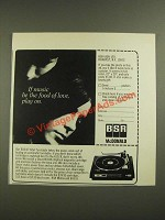 1971 BSR McDonald 610/X Total Turntable Ad - Music be the Food of Love