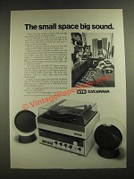1972 GTE Sylvania ACS 12WH Stereo Ad - The Small Space Big Sound