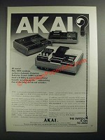 1972 Akai Stereo Cassette Recorders Ad - GXC-46D, GXC-65D and CS-35D