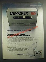 1972 Memorex Chromium Dioxide Tape Ad - Change Your Opinion