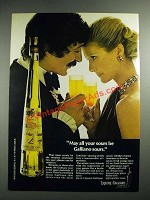 1973 Galliano Liqueur Ad - May All Your Sours Be Galliano Sours