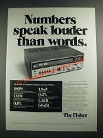 1973 Fisher 504 Studio-Standard Receiver Ad - Speaker Louder Than Words