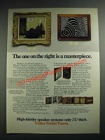 1973 Fisher Sound Panels Ad - The One On The Right is a Masterpiece